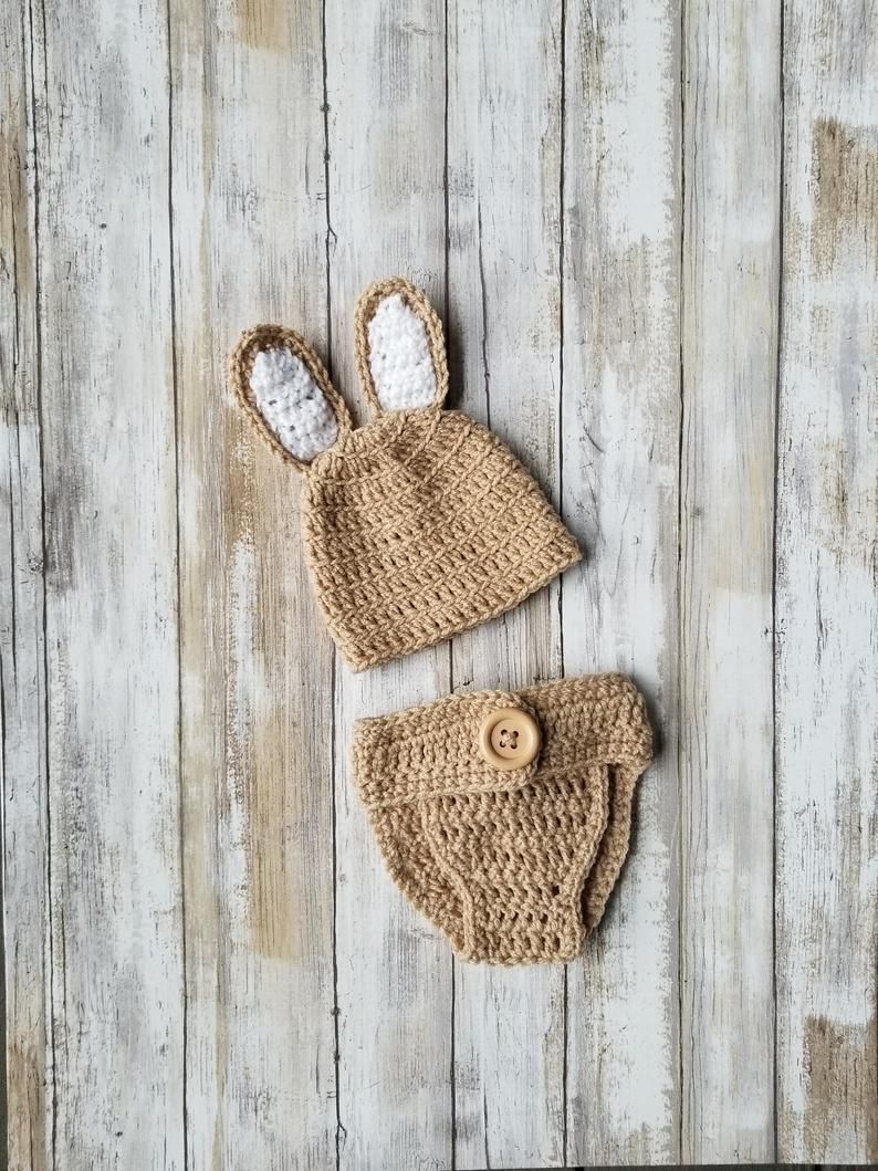 Newborn Bunny Outfit | Baby Bunny Outfit,  Gender Reveal Ideas, Crochet Baby Cos...