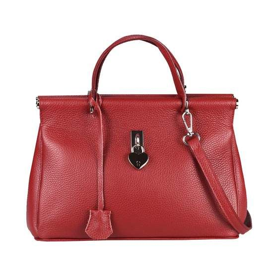 OBC Made in Italy DAMEN Business LEDER TASCHE Doctor Style Weinrot