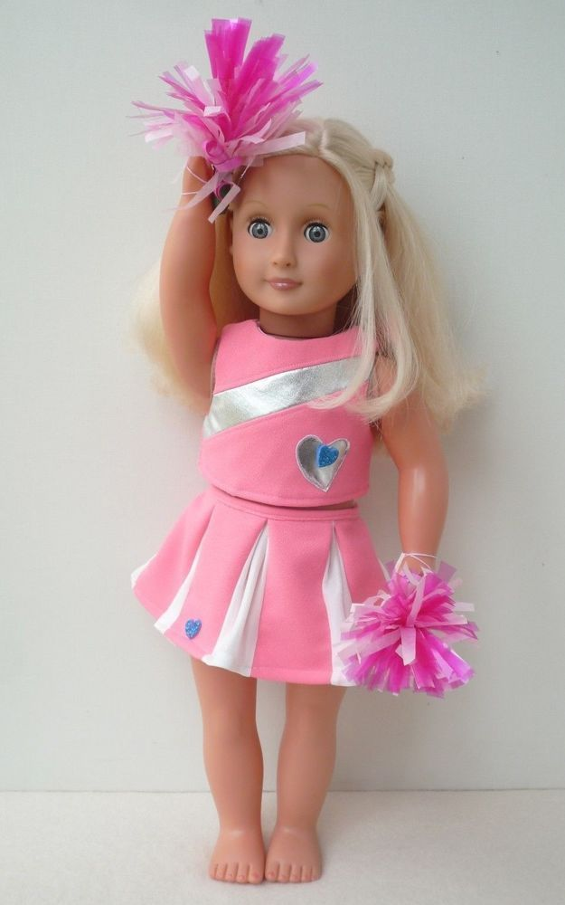 Our Generation American Girl pink cheerleader outfit pompom18 inch doll clothes ...