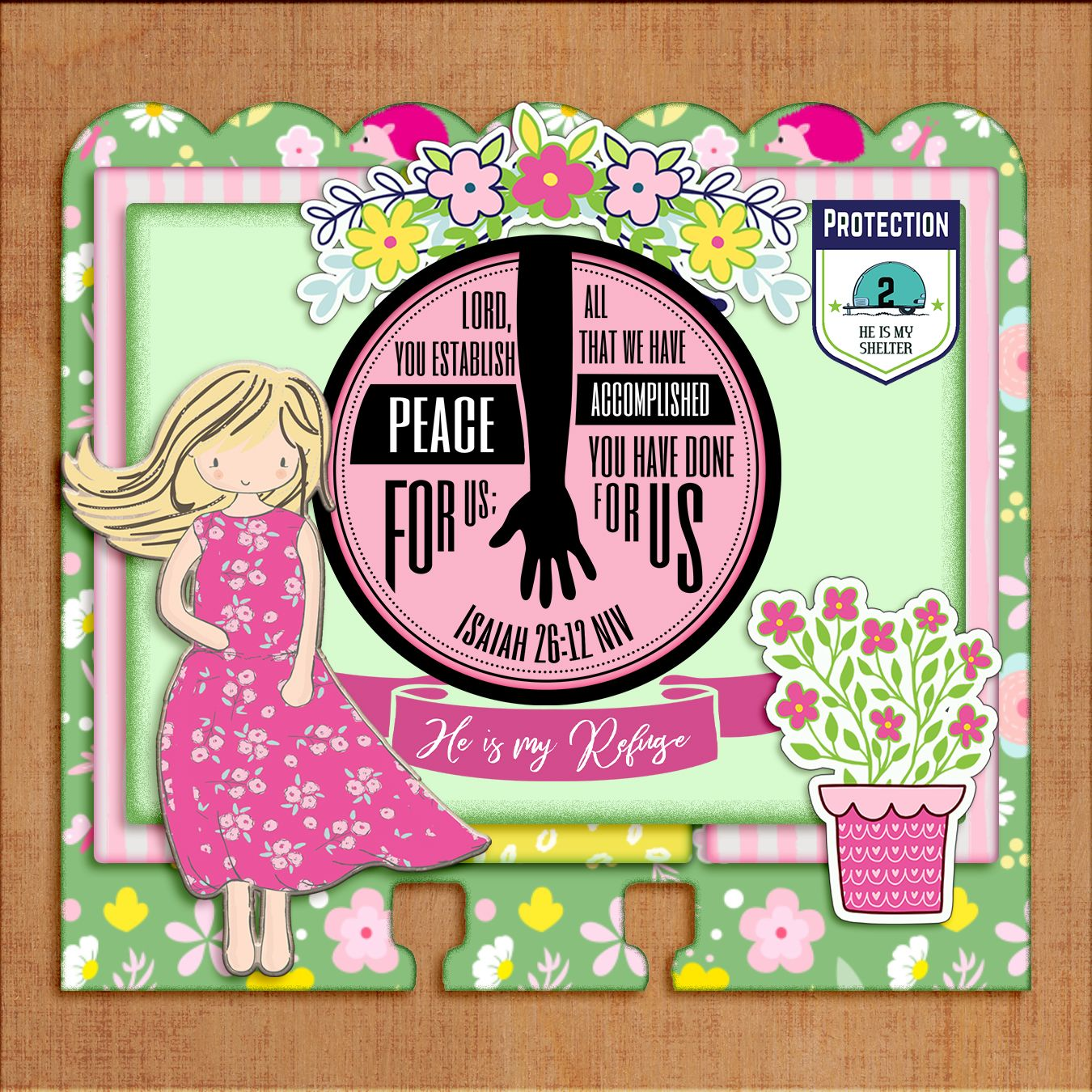 Protection Bible Journal Dex Card Kit: 20 PDFs & 200+ PNGs, 16 Retro Campers, 14 Cute Girls, 48 Rolodex Cards, 30 Typographical Verses