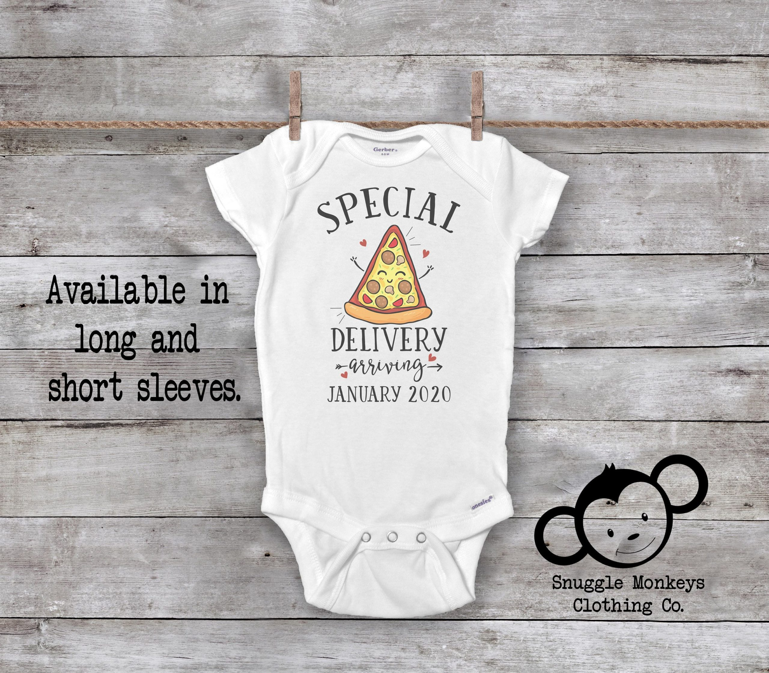 Special Delivery Onesie®, Pregnancy Announcement, Pregnancy Reveal Onesie, Pregnancy Reveal to Grandparents, Pregnancy Reveal to Husband