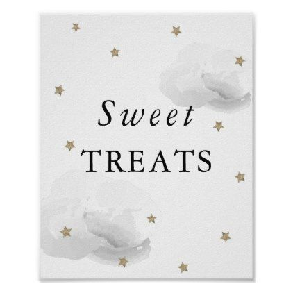 Stars & Gray Clouds Baby Shower Sweet Treats Sign | Zazzle.com