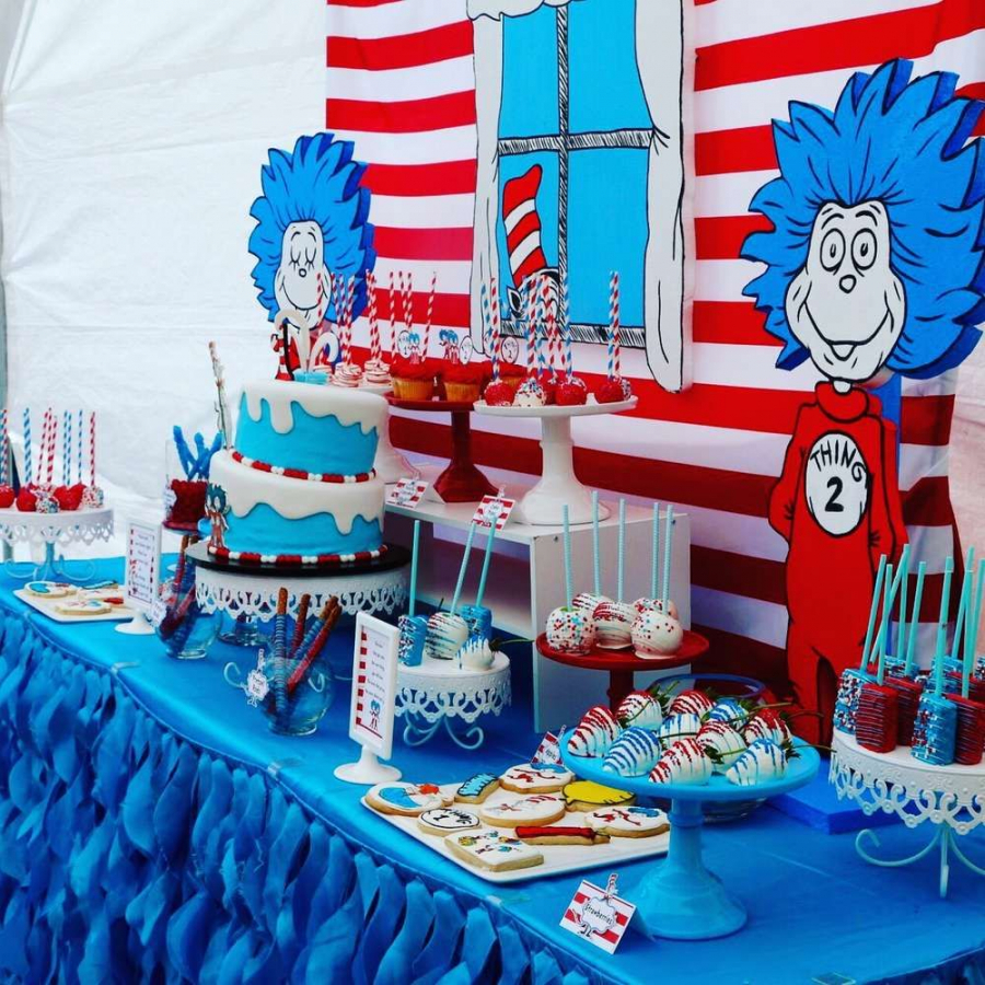 Thing One And Thing Two Birthday Party Ideas | Photo 1 Of 24 Regarding 12+ Thing...