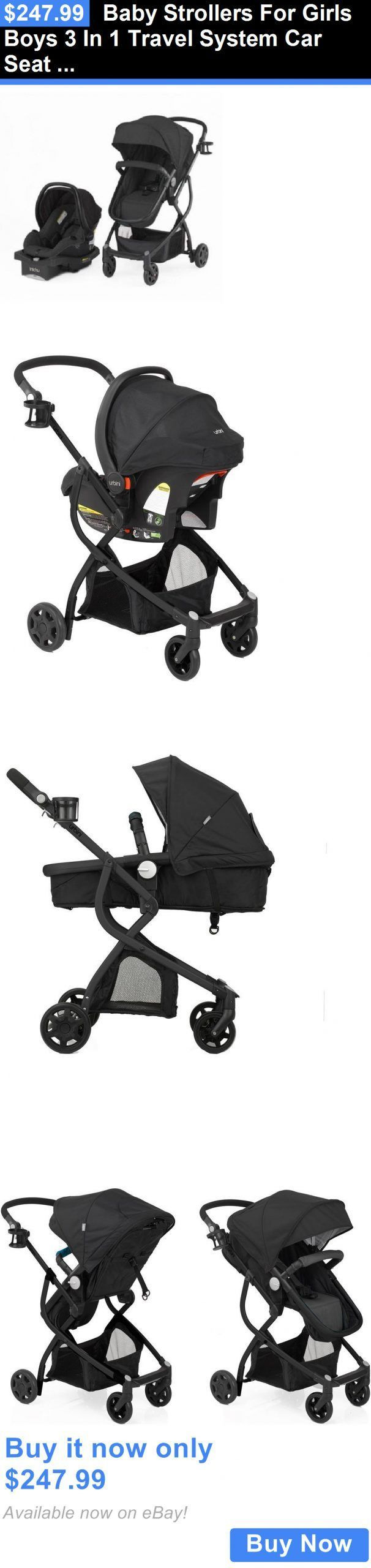 baby and kid stuff: Baby Strollers For Girls Boys 3 In 1 Travel System Car Seat ...