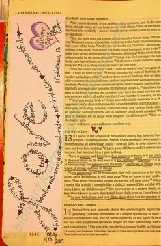 lots of stuff on here. Easy Bible Art Journaling Journey: 1 Corinthians 13 (May ...